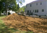 Just a little pile of dirt to go. I think I pulled twenty one loads with my dump trailer.