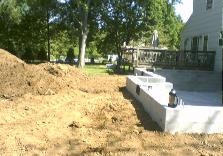 The backfilling is almost complete, but there is still a lot of dirt to be removed.