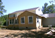 It's important to get the house closed up asap. so the next step is the roofing, and siding.