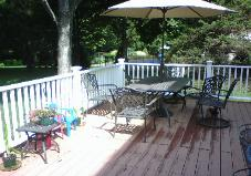 The Owners lost no time in getting use out of thier new deck.