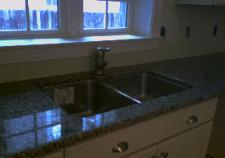 The undermount sink was installed at the time the counters were installed.