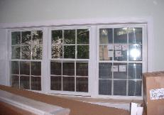 This was just a nice picture of the triple window in the family room.