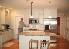 The Owner, Keith Finkral, was happy with the backsplash work.