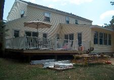 Another view of the deck, and the new siding...Looks Great!