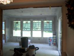 Looking into the addition from the existing kitchen.